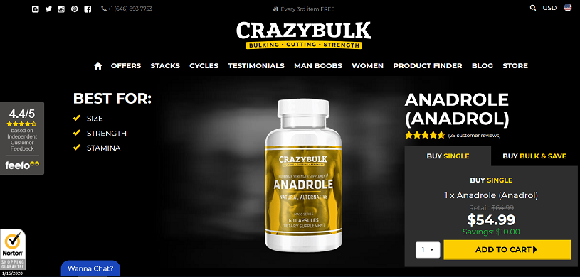 Anadrole official website