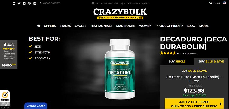 DecaDuro official website
